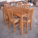 a set of dining table & chair