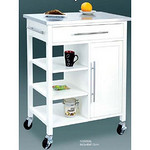 stainless steel top kitchen cart