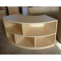 curved storage shelf