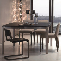 Square dining table and dining chair