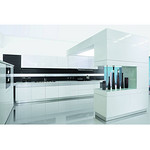 MDF Baking finish White Lacquered Kitchen cabinet MGK-1001