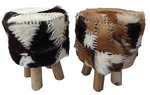 Spine Round Stool  In Gl