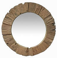 Rough Round Mirror