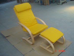 Anne Chair With Footstool;