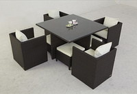 Patio Garden Rattan Furniture Dining Set