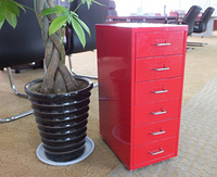Steel six drawers filing cabinet
