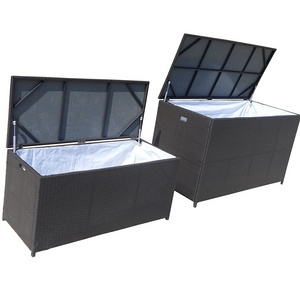 Used canbinet PE rattan furniture for accommodation/popular wicker clothes box garden furniture