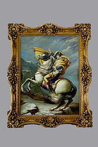 Frame with oil painting