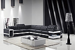 Europe style modern corner genuine leather living room  sofa