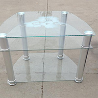 tempered glass tv stand design