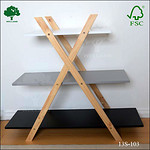 Free standing storage shelf