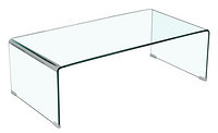 tempered bent glass coffee table