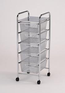 multi-function mesh basket storage cart
