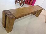 European Solid Oak Bench