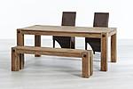 TABLE SET SOLID OAK