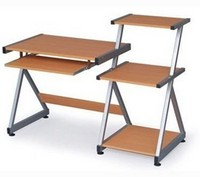 Computer desk with rack