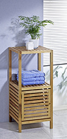 solid wooden bathroom cabinet,floor cabinet,storage unit,1iter, walnut,oiled