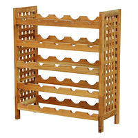strong solid wooden wine storage shelf,classice wine rack,walnut oiled,25 bottles