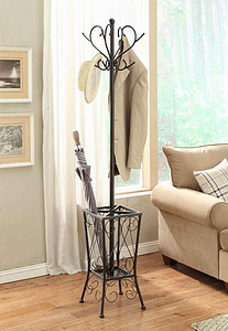 Coat Hanger With Umbrella Stand