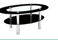 beautiful tempered glass coffee table