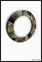 Gc-092- Gemstone Round Mirror
