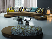 Luxury round corner sofa Italian fabric sofa design of GPS1019