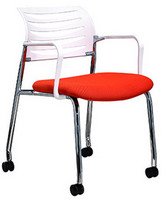 4 legs with castors visitor chair 805-C