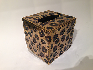 LEOPARD PRINT TISSUE BOX