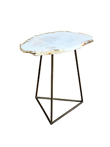 White Agate Side Table
