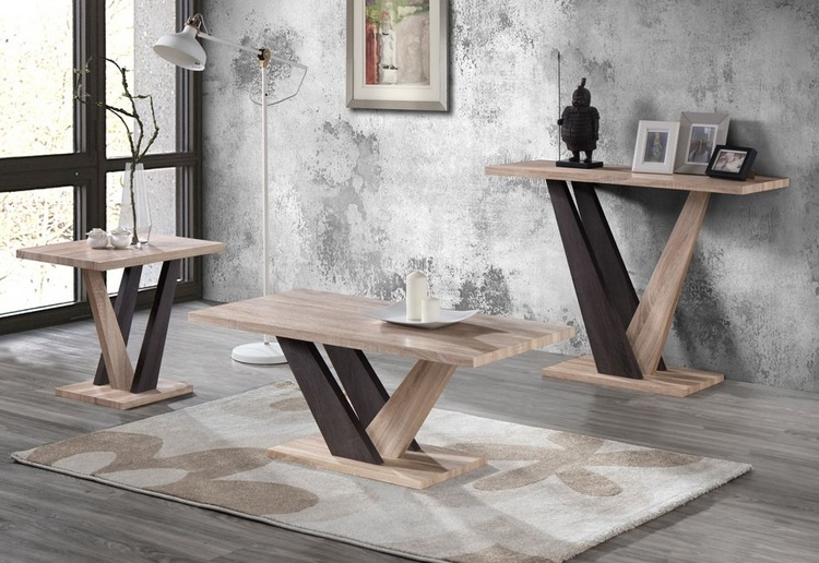 CARLA COFFEE TABLE + END TABLE + CONSOLE TABLE