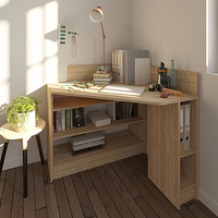 Natural oak Corner desk