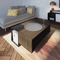 Walnut Kube coffee table