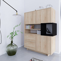 Natural oak Kube sideboard