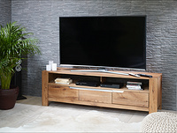 RIVA TV STAND SOLID OAK