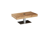 ADJUSTABLE HIGH COFFEE TABLE SOLID OAK