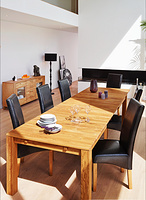 GIANT TABLE 180-380CM SOLID OAK