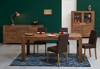 RIVA DINING SET SOLID OAK