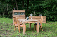 ROYAL DINING SET SOLID OAK