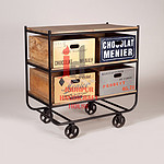 Exclusive Printed Industrial Kitchen Trolley