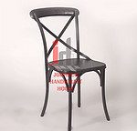 Metal Cross Back Dining Chair 42*42 *89