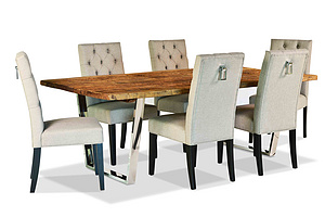 Reclaimed wood dining table & console