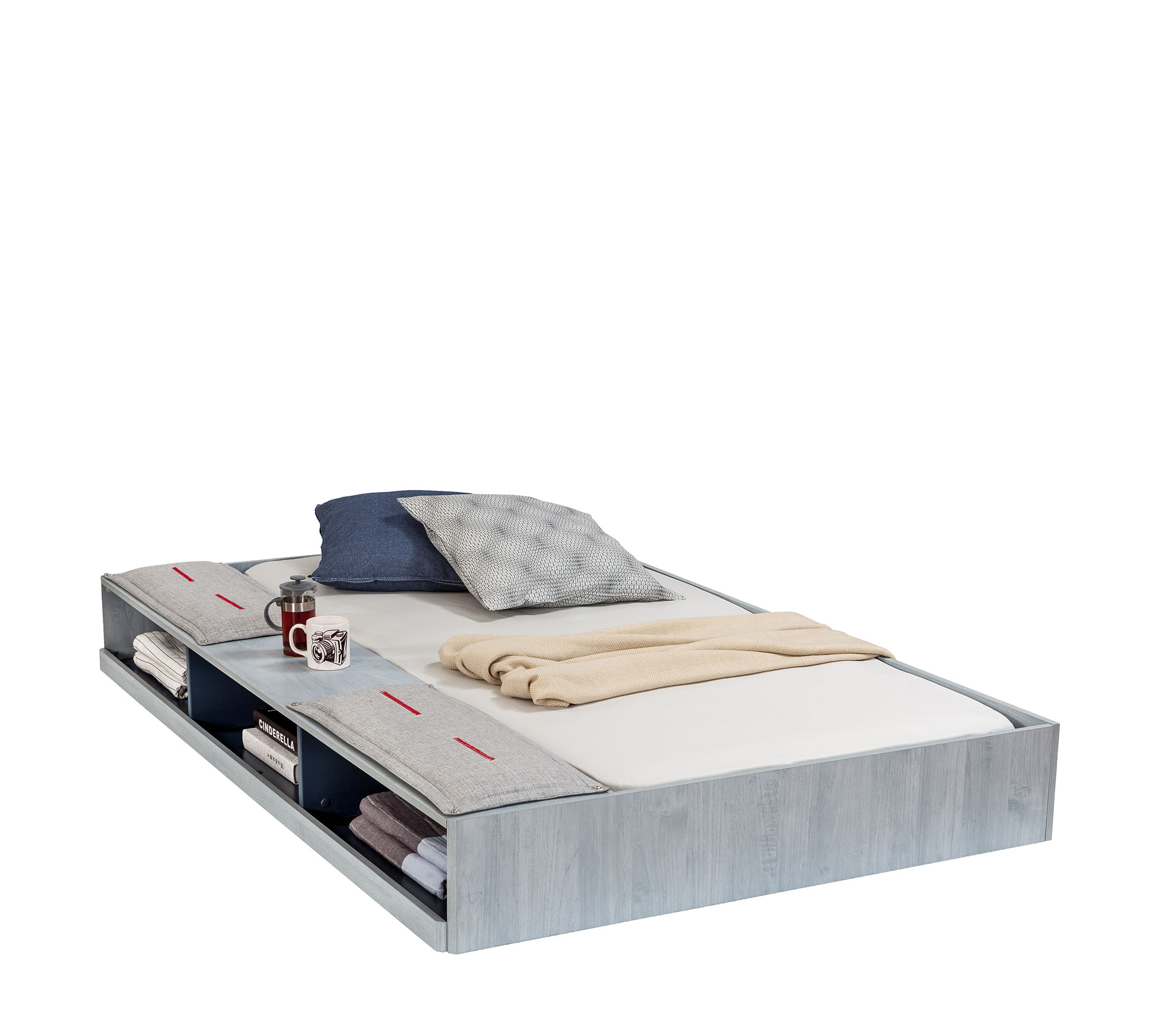 TRIO PULL OUT BED WITH PARTITIONS (90x190 cm)