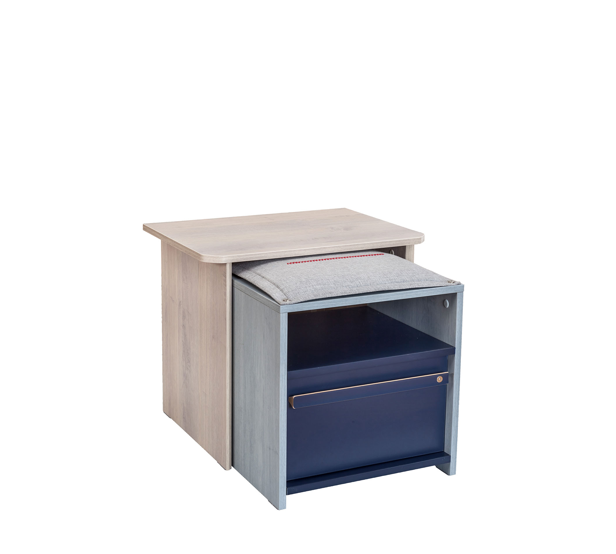TRIO NIGHTSTAND WITH SHELF